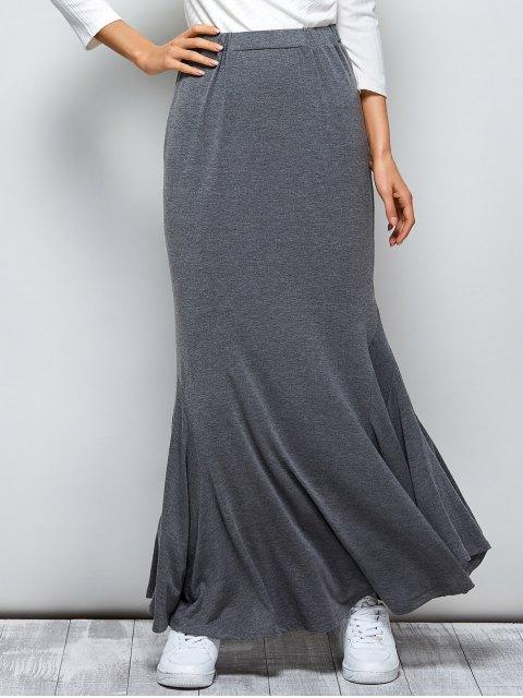 shop Exotic Maxi Mermaid Skirt - GRAY M Mobile