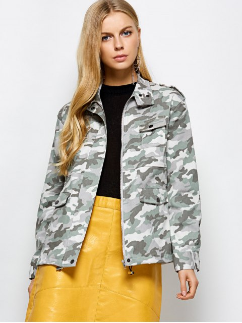 ladies Camouflage Utility Jacket - CAMOUFLAGE COLOR M Mobile