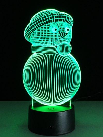 Christmas 3D Snowman Touch Colorful Light - Transparent