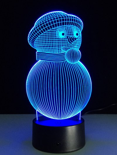 Christmas 3D Snowman Touch Colorful Light - TRANSPARENT  Mobile