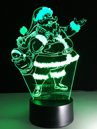 Merry Christmas Santa Claus Touch Night Light - TRANSPARENT  Mobile