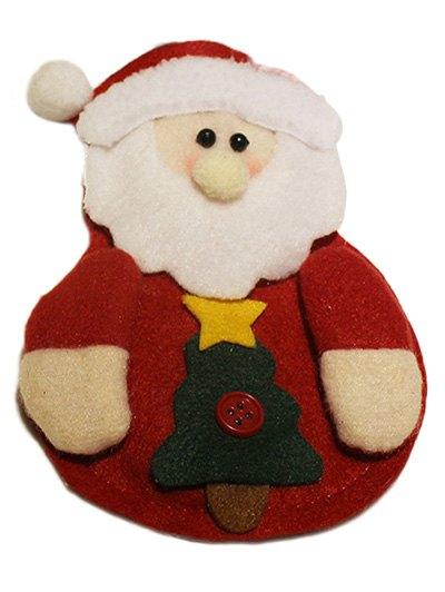 Christmas Santa Claus Tableware Cover Bag - RED  Mobile