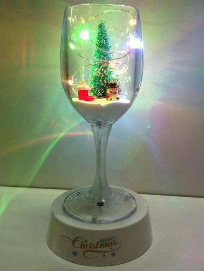 USB Christmas Goblet Cup LED Night Light - COLORFUL  Mobile