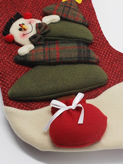 Santa Clous Christmas Present Sock - RED  Mobile