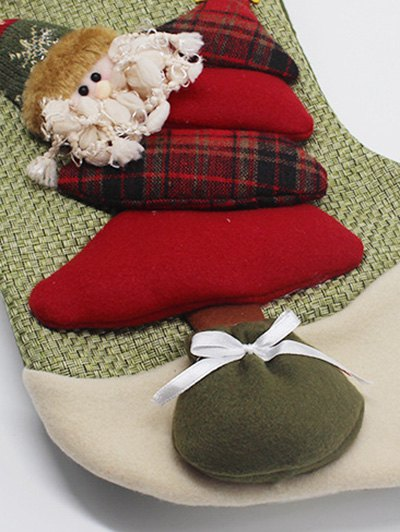 Christmas Santa Clous Present Sock - GREEN  Mobile