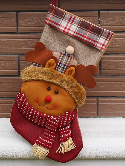 Christmas Decoration Present Bag Sock - COLORMIX  Mobile