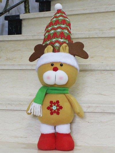 Christmas Gift Elk Doll Xmas Decoration - YELLOW  Mobile