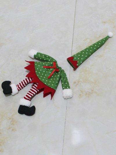 Christmas Dot Wine Bottle Cover Bag - GREEN  Mobile