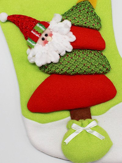 Christmas Santa Hanging Present Stocking Bag - RED AND GREEN  Mobile