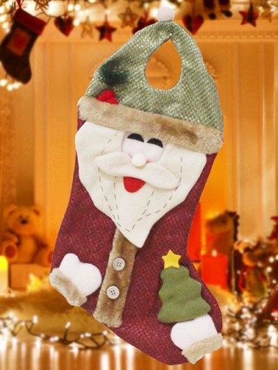 Santa Christmas Hanging Present Stocking Bag - RED AND GREEN  Mobile