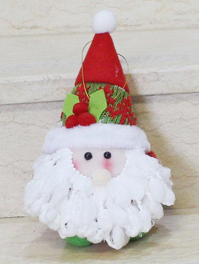 Santa Claus Doll Pendant Xmas Tree Decoration - RED WITH WHITE  Mobile