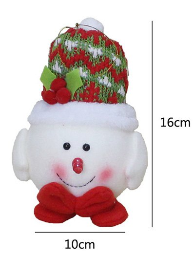 Snowman Hanging Doll Pendant Christmas Decoration - RED WITH WHITE  Mobile