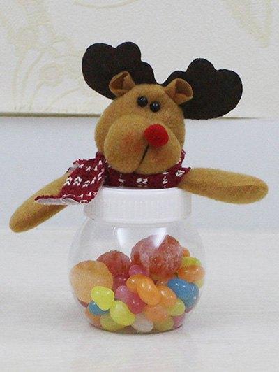 Christmas Cute Plush Elk Toy Candy Jar - TRANSPARENT  Mobile