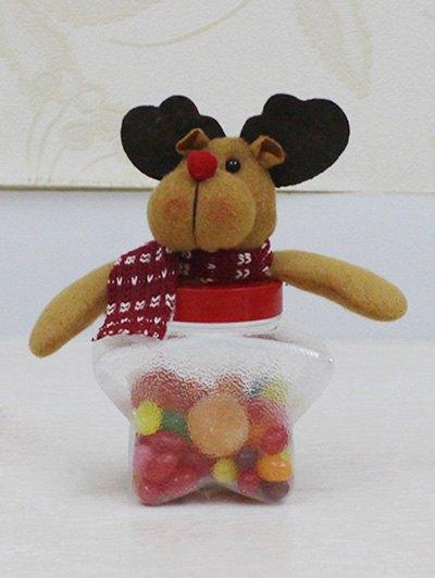 Christmas Toy Star Shape Candy Jar - Transparent