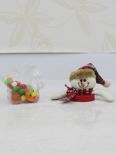 Christmas Snowman Kids Gift Candy Jar - TRANSPARENT  Mobile