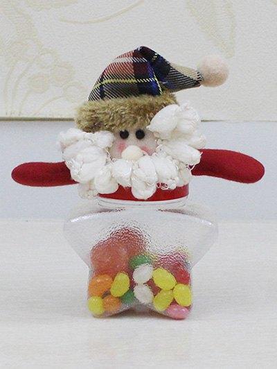 Christmas Transparent Star Shape Candy Jar - Transparent