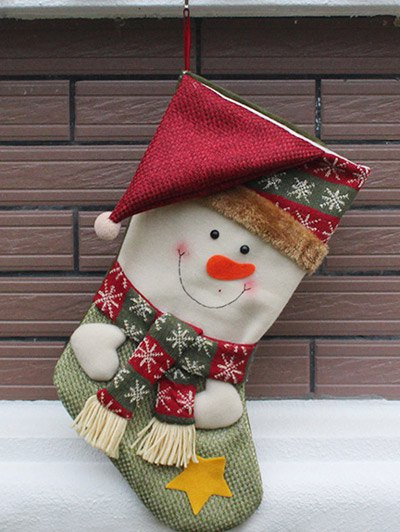 Christmas Snowman Hanging Kids Candy Sock - COLORMIX  Mobile