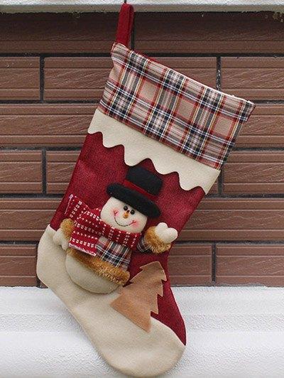 Christmas Snowman Kids Candy Sock