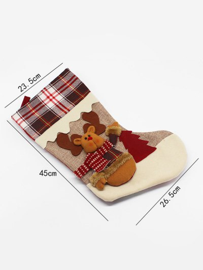 Christmas Elk Hanging Kids Candy Sock - COLORMIX  Mobile