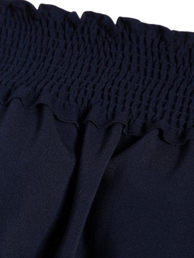 Long Sleeve Off Shoulder Blouse - PURPLISH BLUE 2XL Mobile
