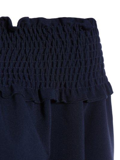 Long Sleeve Off Shoulder Blouse - PURPLISH BLUE XL Mobile