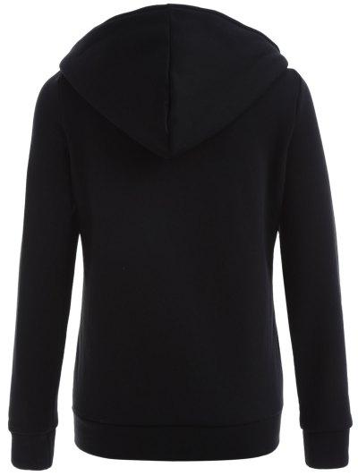 Zip Through Hoodie - BLACK 2XL Mobile