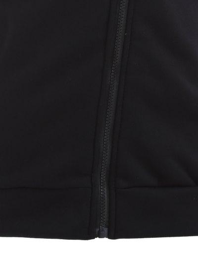 Zip Through Hoodie - BLACK M Mobile