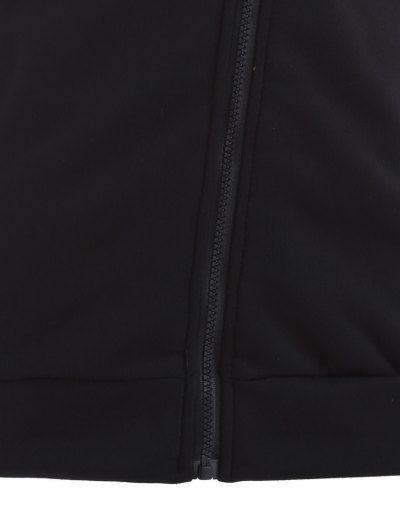 Zip Through Hoodie - BLACK S Mobile