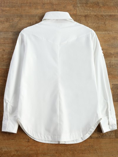 Strappy Sleeve Shirt - WHITE S Mobile