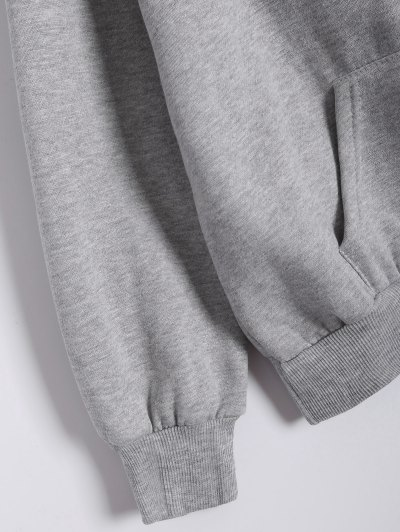 Printed Sports Hoodie and Gym Pencil Pants - GRAY 4XL Mobile