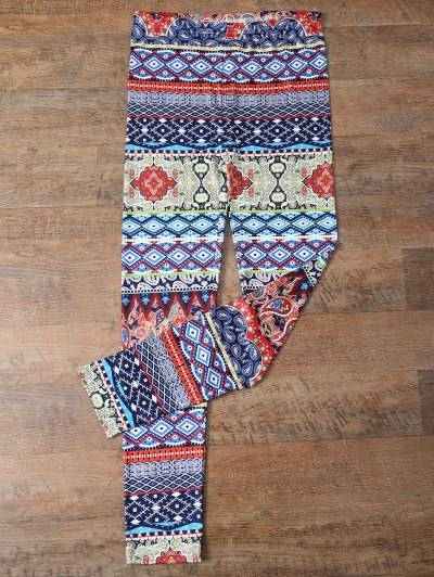 Retro Print Skinny Leggings