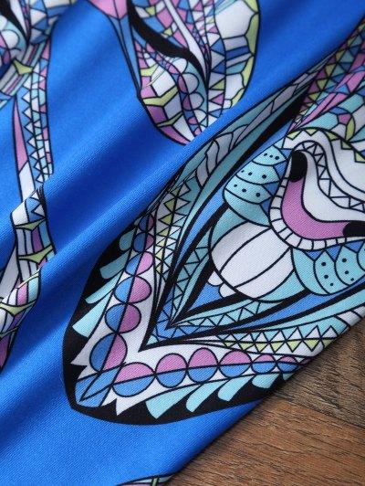 Cartoon Deer Leggings - BLUE M Mobile