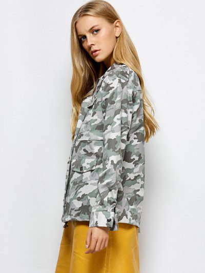 Camouflage Utility Jacket - CAMOUFLAGE COLOR XL Mobile