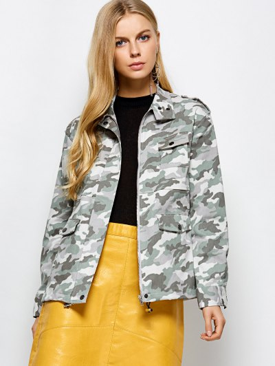 Camouflage Utility Jacket - CAMOUFLAGE COLOR M Mobile