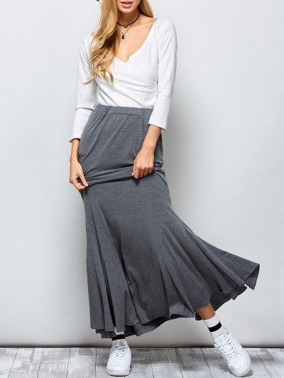 Exotic Maxi Mermaid Skirt - GRAY M Mobile