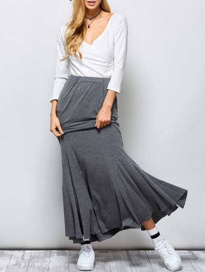 Exotic Maxi Mermaid Skirt - GRAY S Mobile