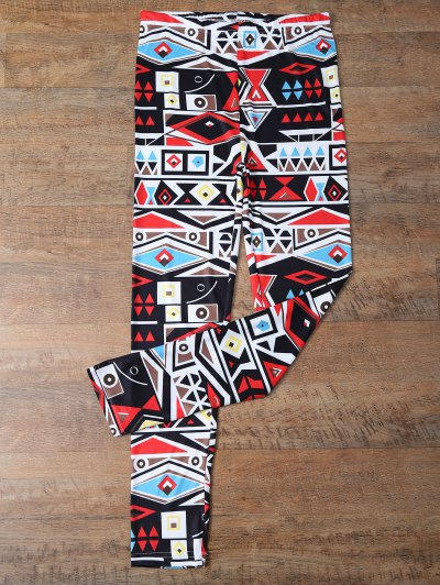 Geometric Print Skinny Leggings