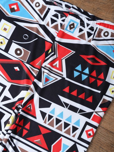 Geometric Printed Leggings - COLORMIX XL Mobile