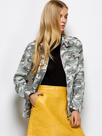 Camouflage Utility Jacket - CAMOUFLAGE COLOR 2XL Mobile