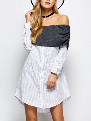 Off The Shoulder Casual Dress - White
