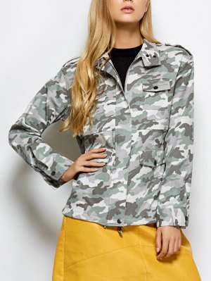 Camouflage Utility Jacket - Camouflage Color