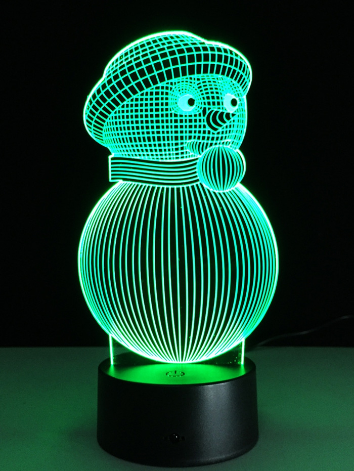 Snowman Shape Touch Colorful Night Light