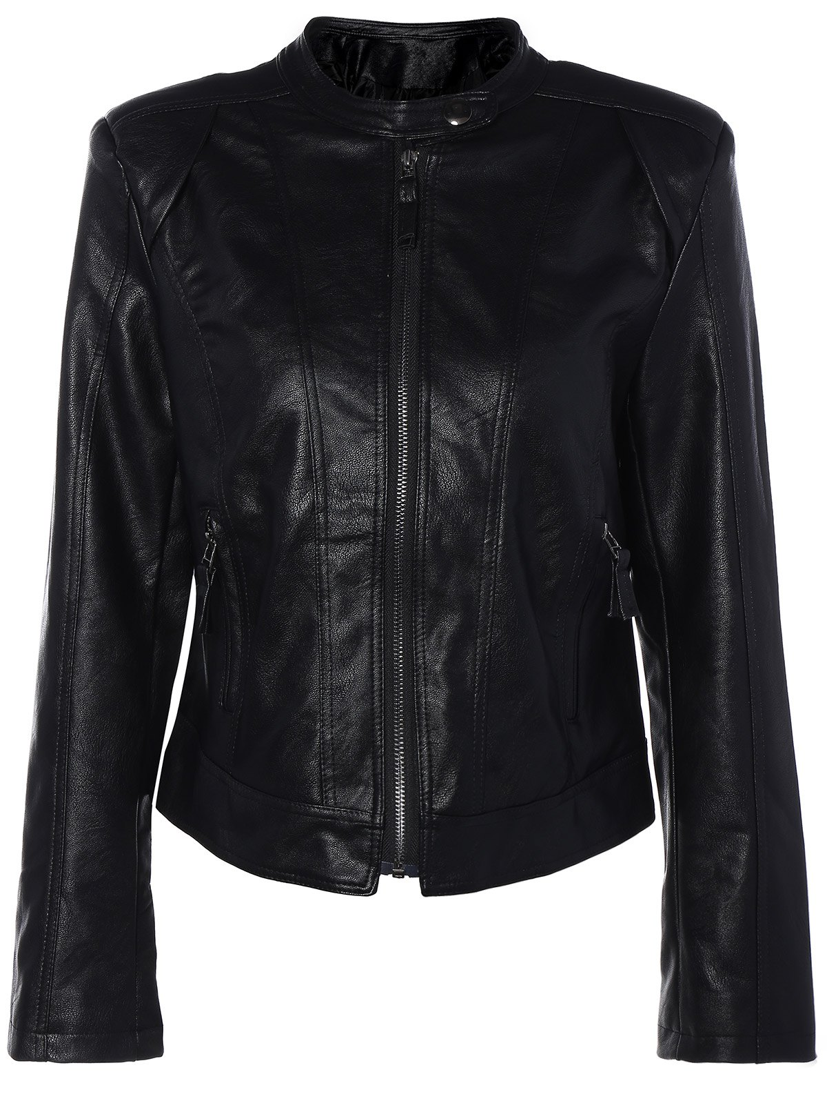 Punk PU Leather Biker Jacket