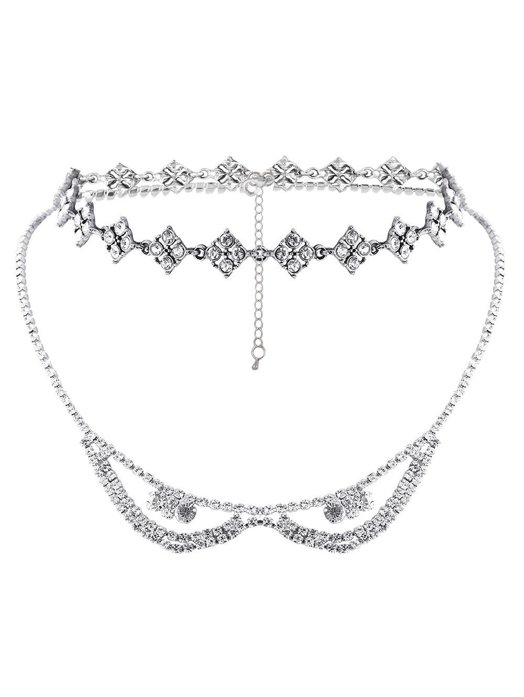 Rhinestoned Layered Necklace