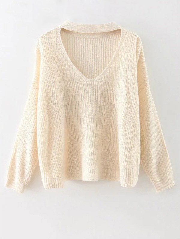 Cut Out Choker Sweater
