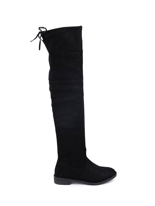 Suede Thigh High Boots
