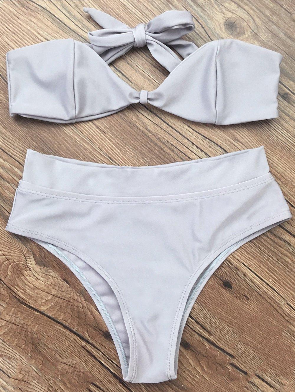 Tie Back Bandeau Bikini Set