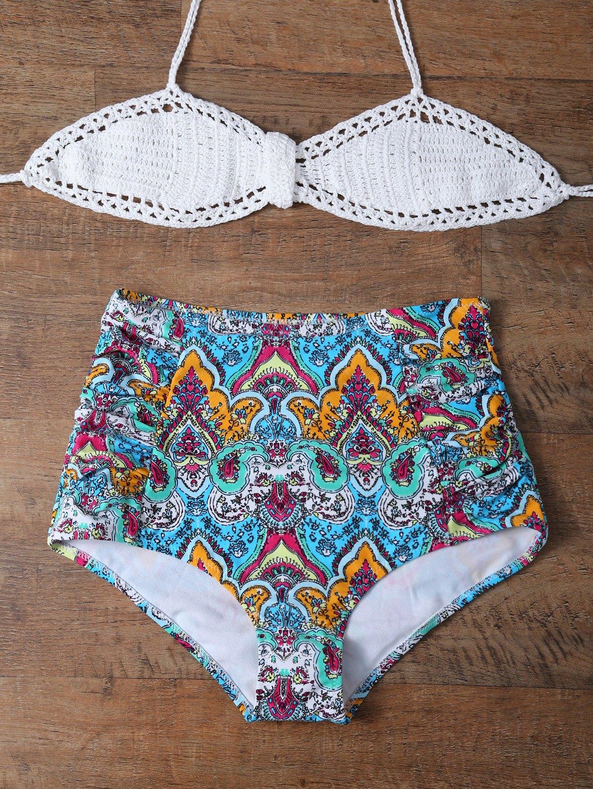 Printed High Rise Multiway Bikini