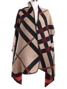 Geometry Pattern Cape Pashmina - Light Camel