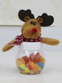 Christmas Cute Plush Elk Toy Candy Jar